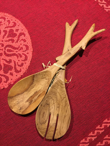 Tree Branch Salad Servers