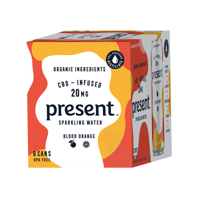Present Present CBD Infused Sparkling Water Goldenrod