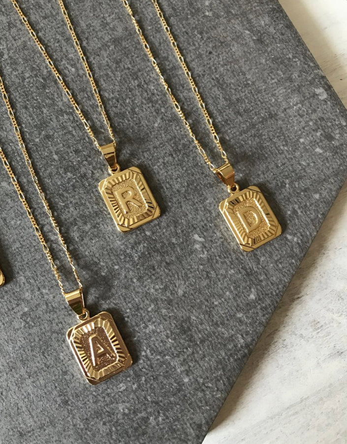 Initial Card Necklaces