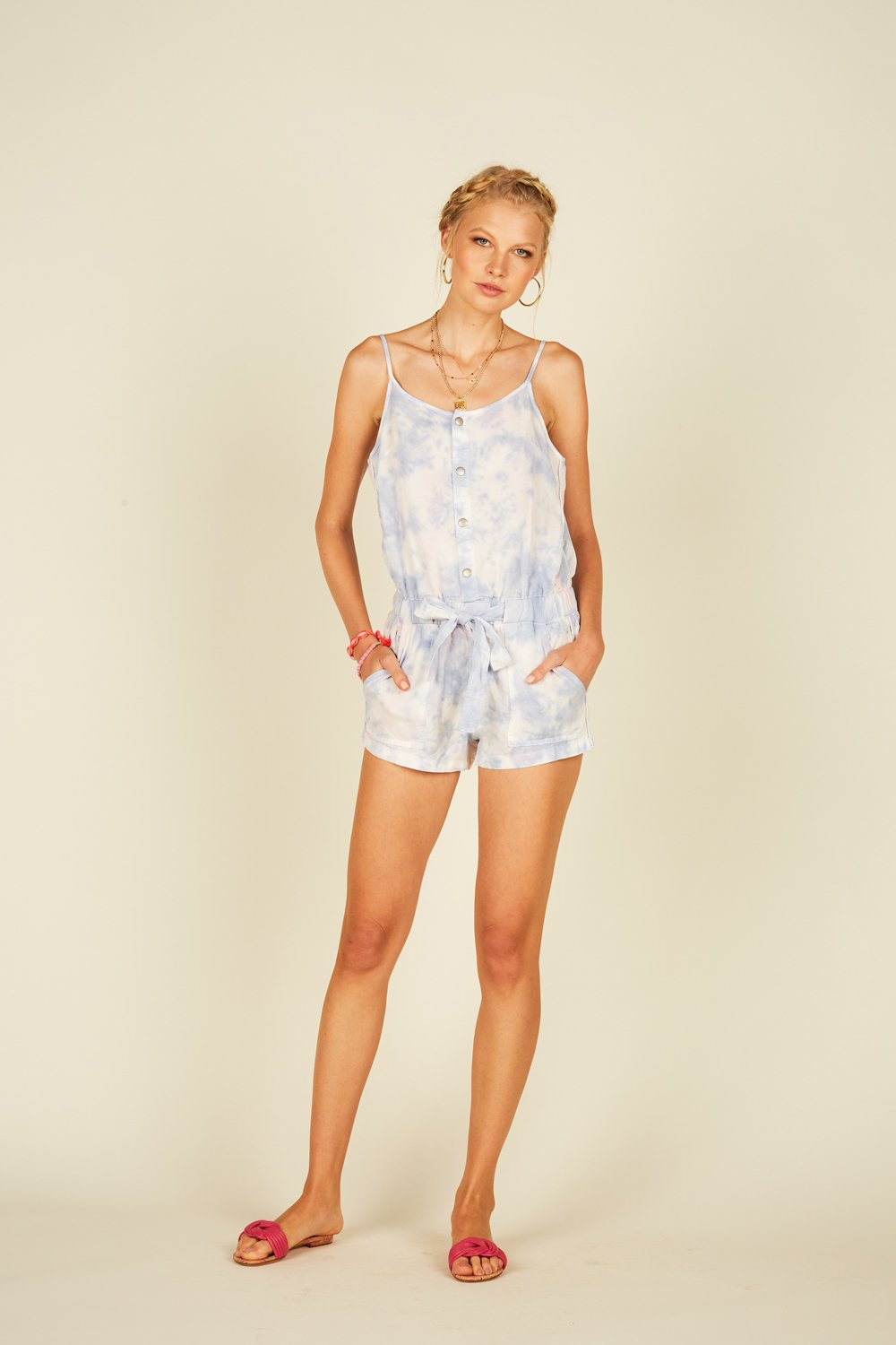 Ocean Waves Tencel Romper