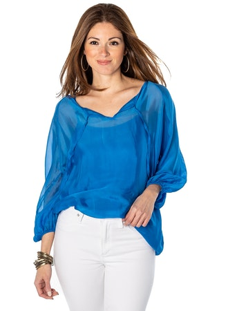 Sofia Loose Ties Blouse