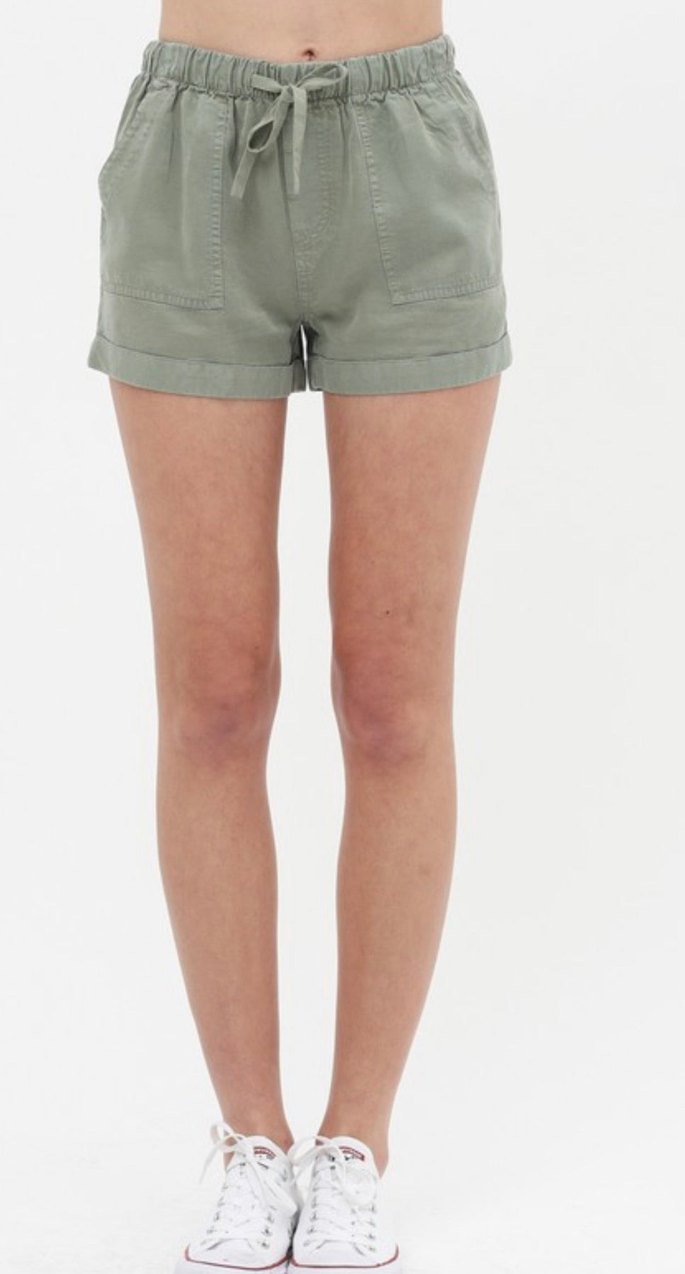 Totally Tencel Olive Shorts