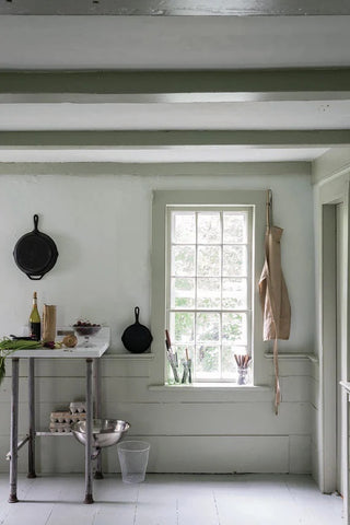 Drop Cloth from Farrow and Ball used in kitchen interior