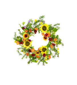 SPRING SUNFLOWER WREATH