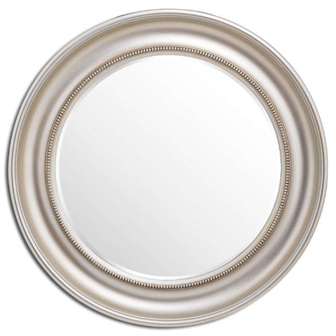 Circular Champagne Finish Wall Mirror