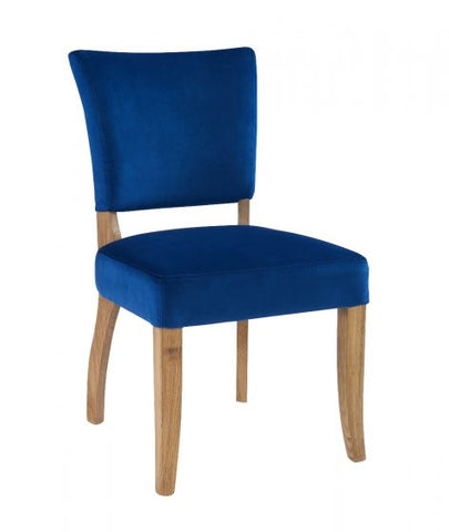 NAVY BLUE VELVET DINING CHAIR