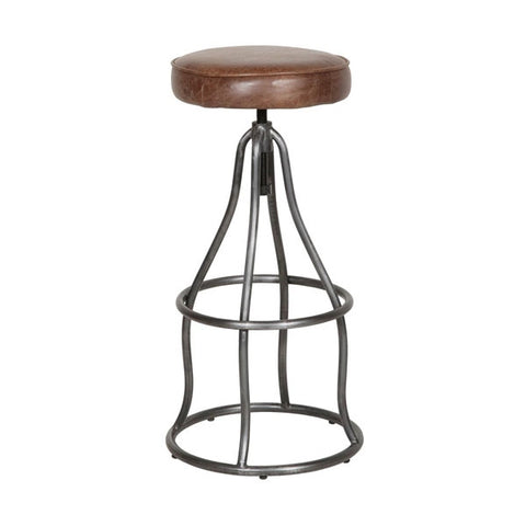 BROWN CERATO LEATHER BAR STOOLS - TO ORDER CONTACT STORE