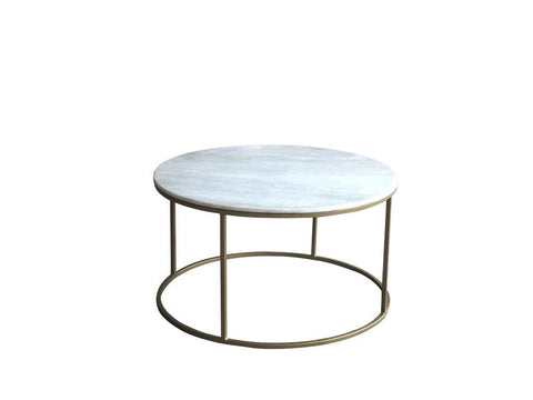 Beth Circular Marble Coffee Table