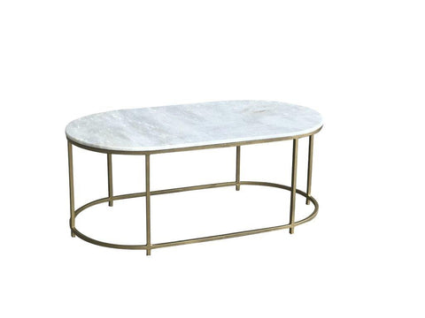 Beth Large Oval Marble Coffee Table