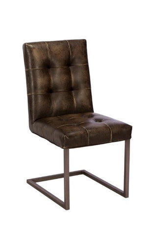 Rupert Chocolate Brown Dining Chair in PU Leather