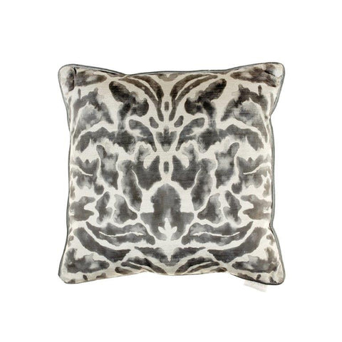Nikko Damask Pattern Cushion Charcoal Grey