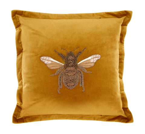 LILA VELVET BEE CUSHION 20% DISCOUNT APPLIED AT CHECKOUT