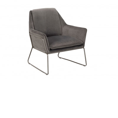 GREY LEATHER OCCASIONAL  CHAIR