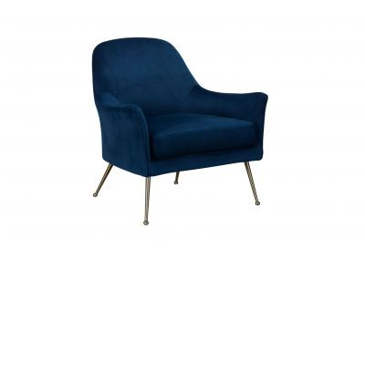 Cobalt Blue Velvet Occasional Chair