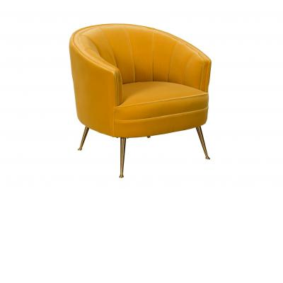 Shell Back Chair in Golden Yellow Velvet
