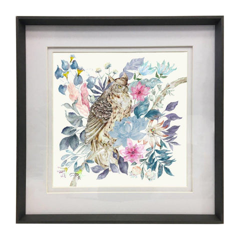 HALCYON OWL WATERCOLOUR PRINT