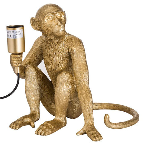 George Monkey Gold Lamp