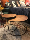 COPPER CIRCULAR COFFEE TABLE SET