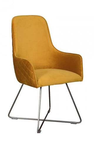 Mustard Utah bucket dining chair