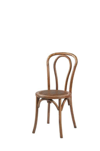 Bentwood Bistro Chair with rattan seat