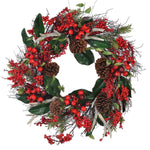 ANTLER BERRY & CONE WREATH