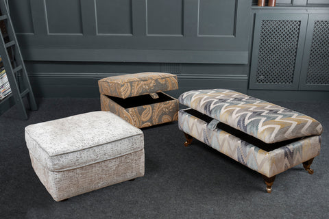 Ottomans and Footstools with Storage Made to Order Starting From