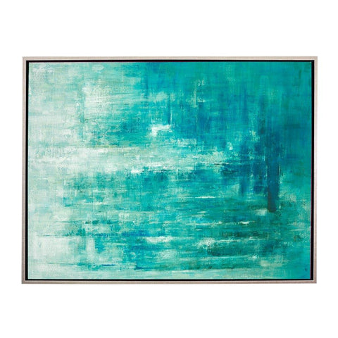 Serene Waters Abstract Oil Painting