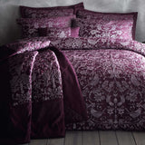Strawberry Thief Bedspread Set Plum