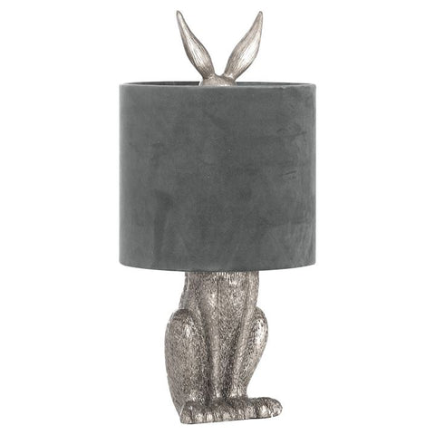 SILVER HARE TABLE LAMP