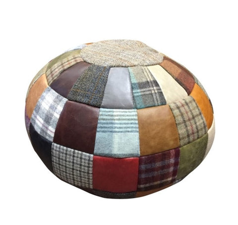 Patchwork Ball Footstool - Available to Order *