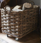 Handmade Rattan Log Basket