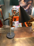 BLACK & BRASS CONE SHADE DESK LAMP