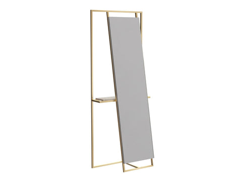 BRASS DRESSING VALET WITH MIRROR