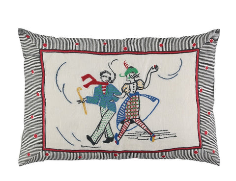 LAMBETH WALKING COUPLE CUSHION