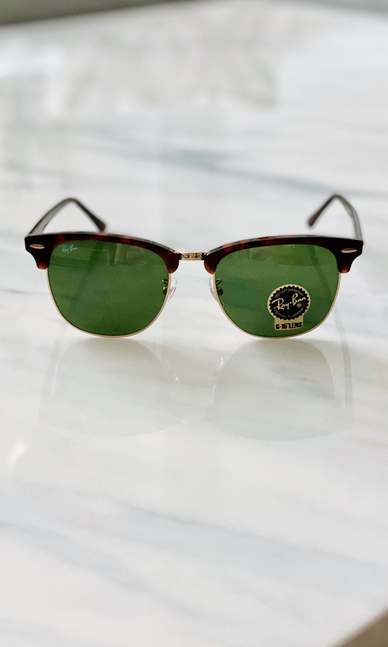 Clubmaster Low Bridge Fit Sunglasses | Tortoise