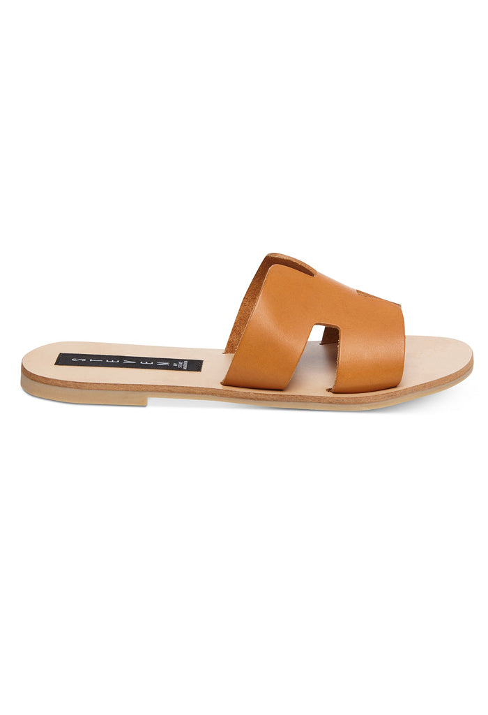 Greece Flat Sandal | Cognac