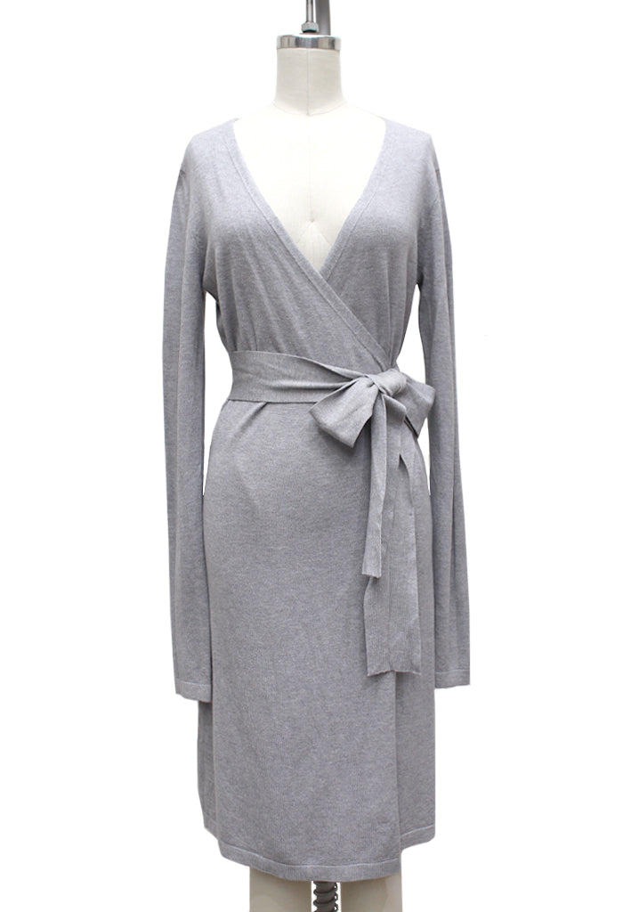 Sana Knit Wrap Dress | Heather Grey