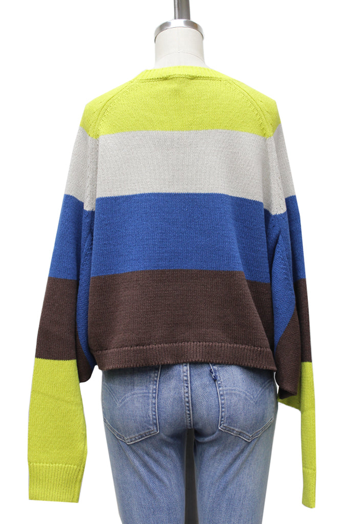 Deliah Color Block Prep Sweater