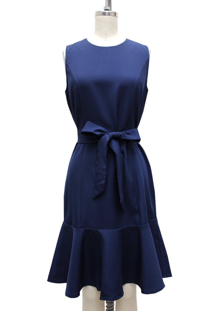 Rella Fit and Flare Belted Dress