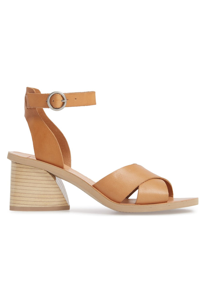 Roman Heeled Sandal | Caramel Leather