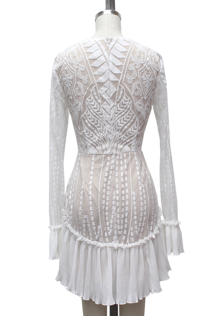 Rough Cut Diamond Dress | White