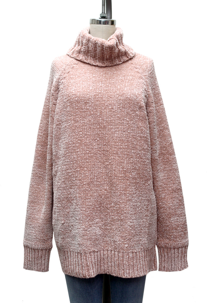 Night in Chenille Turtleneck Sweater