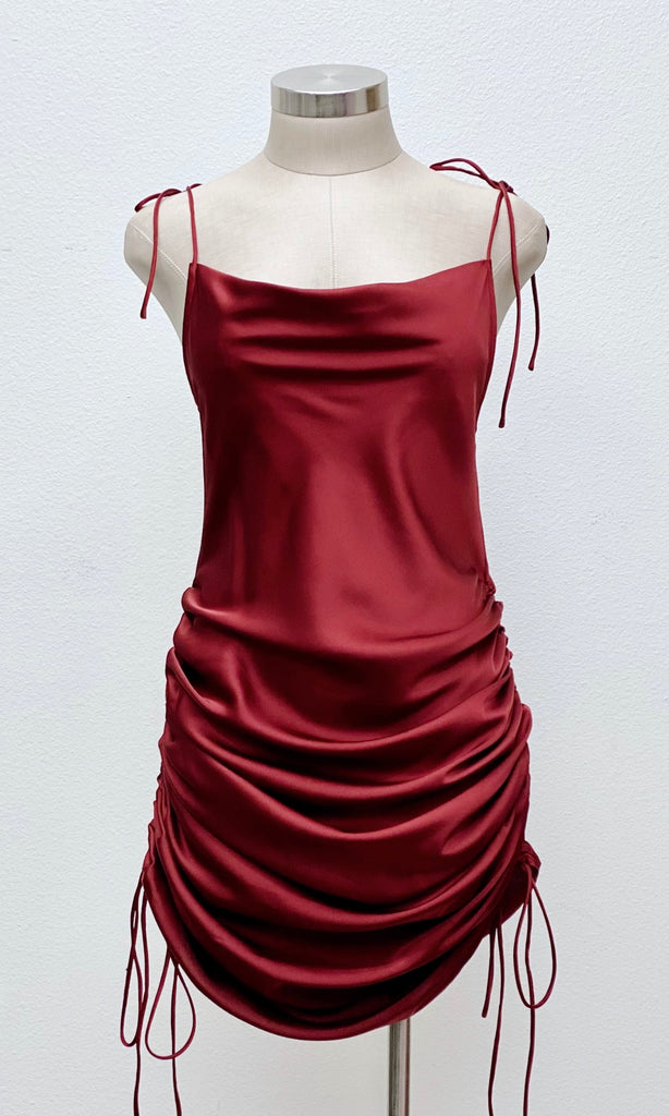 The Scarlet Drawstrings Midi Dress