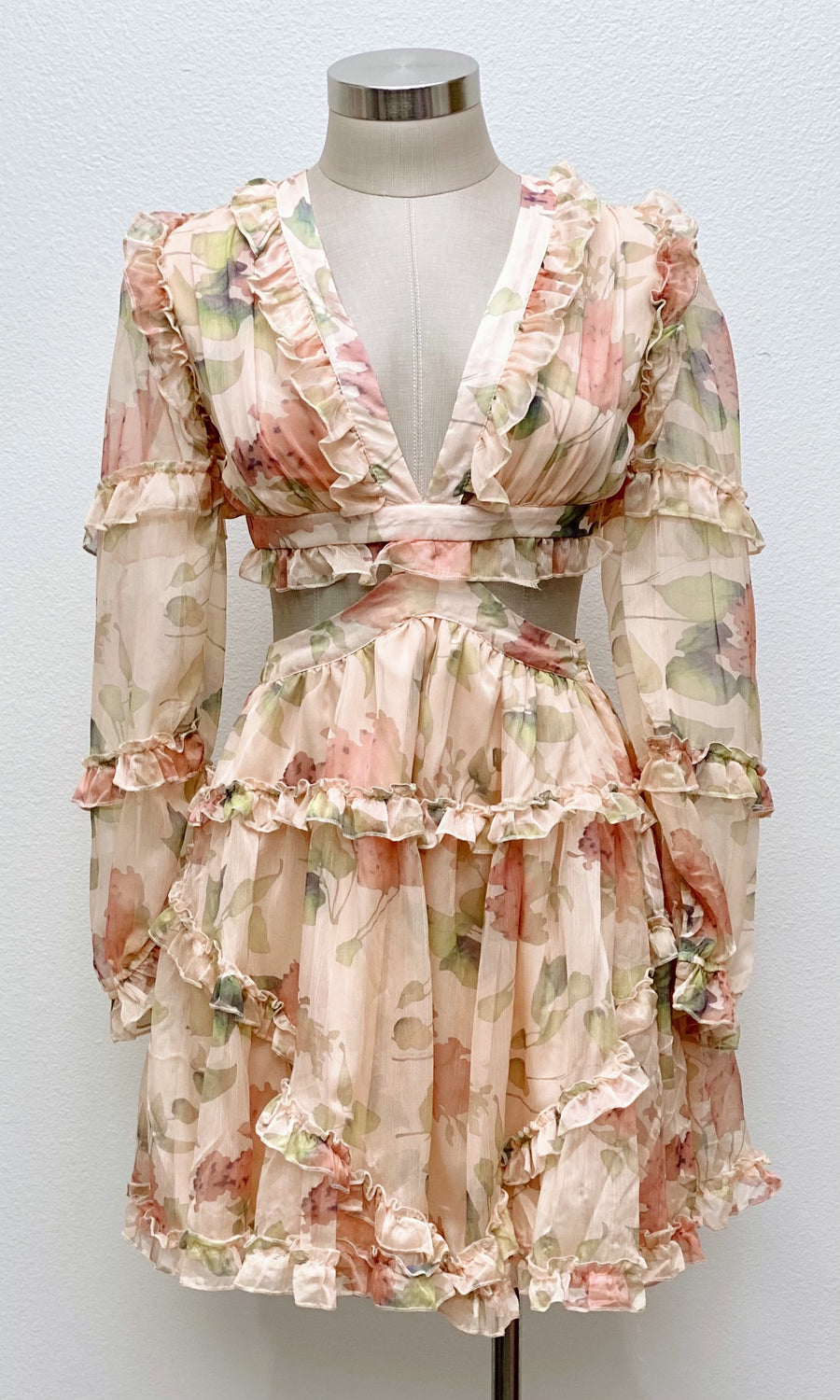In Florence Floral Cut-Out Dress
