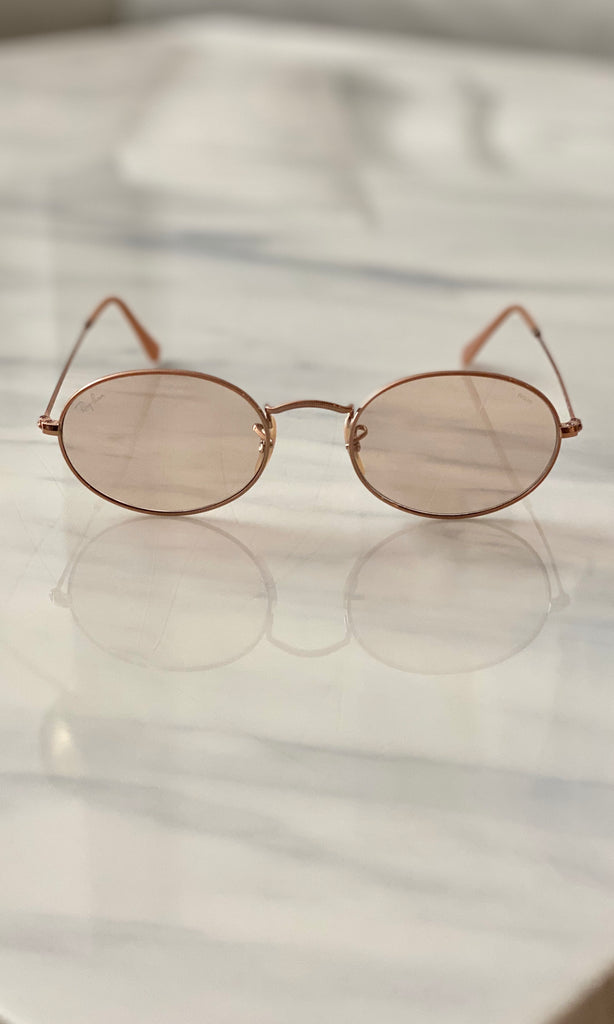 Oval Washed Evolve Sunglasses | Bronze-Copper Light Brown