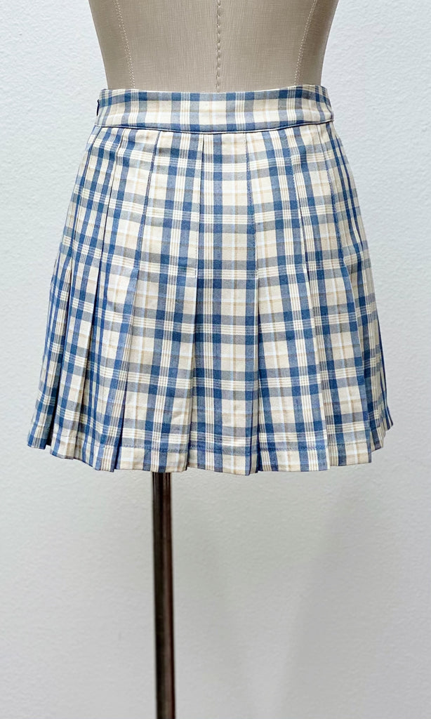 Old School Plaid Mini Skort | Blue