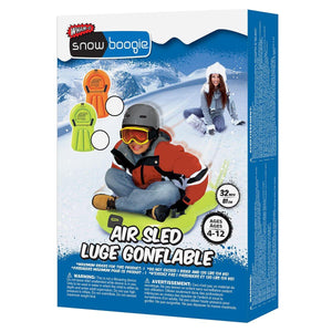 Snowboogie Air Sled 32 inch Inflatable Boogie Packaging Front View