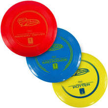 Load image into Gallery viewer, Frisbee Disc Golf - 3 Pack from Wham-O. Hours of fun from the Fun Factory since 1948