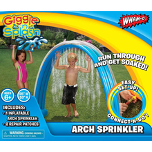 Load image into Gallery viewer, Giggle 'n Splash Rainbow Arch Sprinkler Packaging Front View