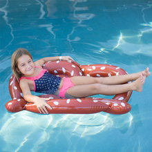 Load image into Gallery viewer, Splash Pretzel Tube Pool Float Side View Lifestyle